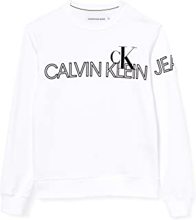 Calvin Klein Jeans Men's Outline Logo Crew Neck Sweater