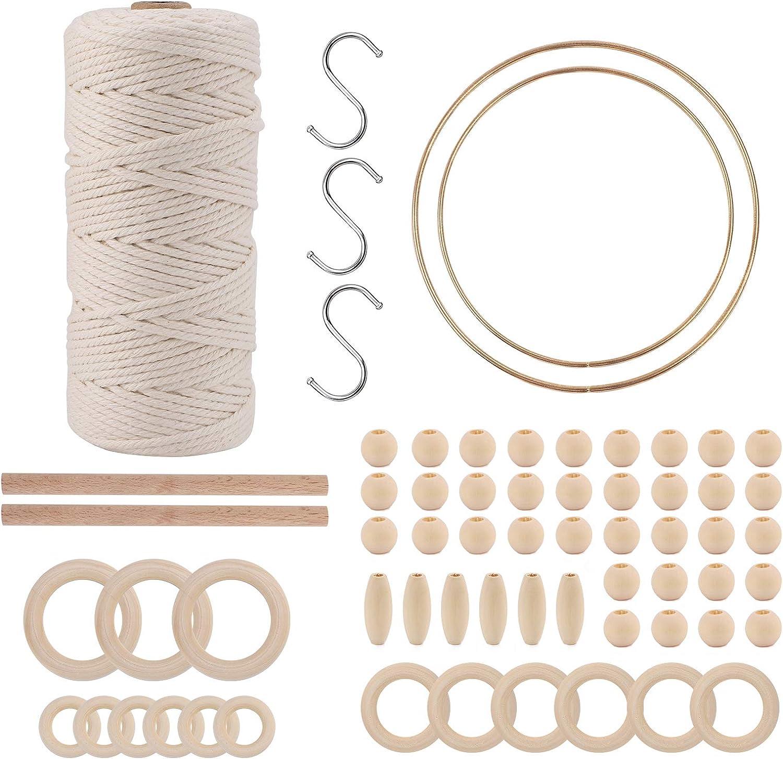 Macrame Wall Hanging Kit Regular discount Cord x Natural 3mm 109Yards Co Gifts