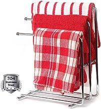Vrijstaand handdoekenrek chroom,handdoekenrek standaard voor badkamer,roestvrijstalen vaatdoek droogrek met 3 staven,siera...
