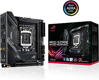 ASUS ROG Strix H470-I Gaming - Placa Base Gaming Mini-ITX Intel de 10a Gen LGA 1200, Dual M.2, DDR4, WiFi 6, LAN 1Gb, HDMI, DP, USB 3.2 Gen 2, USB de Tipo C e iluminación RGB Aura Sync
