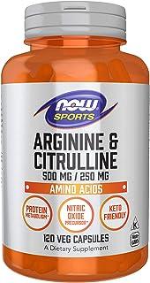 Now Foods Sports, Arginine and Citrulline, Veg Capsules, 120ct