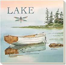 CounterArt Lake Boat Absorbent Coasters (Set of 4)