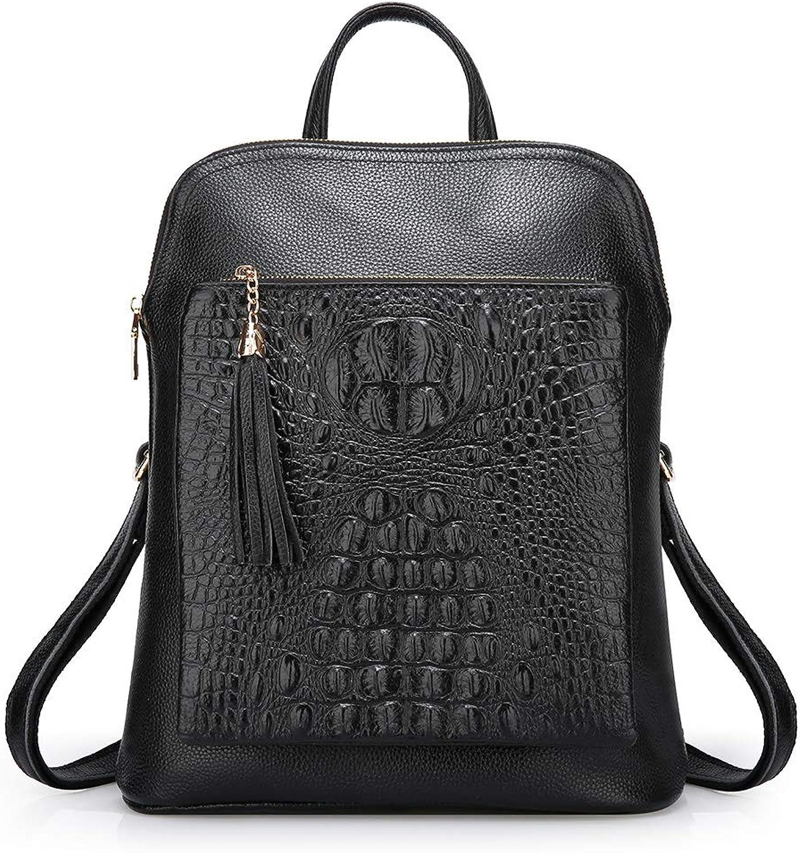 GLOOZD Mode Damen Rucksack Leder, Tasche Damen Wasserdicht Handtaschen Freizeit Schultertasche Mehrzweck-Rucksack FüR DREI Zwecke B07NRPK8F7  Elegante Form