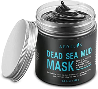 Dead Sea Mud Mask with Activated Charcoal, Deep Cleansing Clay Facial Mask for Reduction in Pores, Blackheads & Acne, Rejuvenated to Smooth & Moisturizing Skin for Men and Women, 8.8 oz