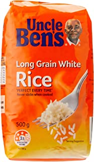Uncle Ben's Long Grain White Rice, 500 g, No Flavour Available