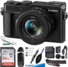 "$709 » Panasonic Lumix LX100 II Large Four Thirds 21.7 MP Multi Aspect Sensor 24-75mm Leica DC Vario-SUMMILUX F1.7-2.8 Lens Wi-Fi and Bluetooth Camera with 3"" LCD, Black (DC-LX100M2) - Basic Bundle"