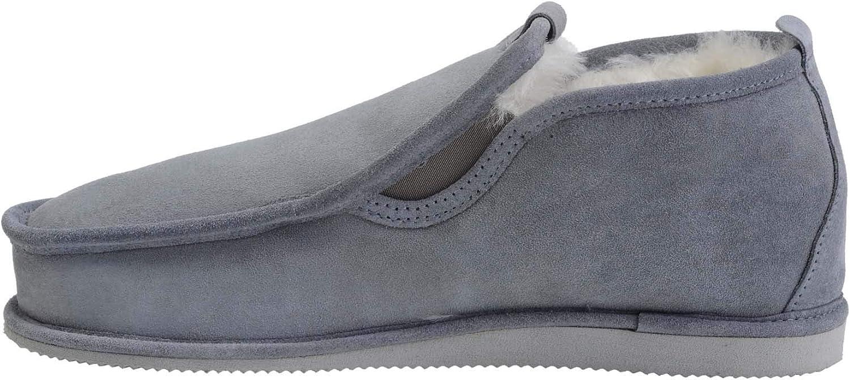 Vogar herr Genuine Sheepsky läder Luxury Luxury Luxury Mocasin Slippers Värme Wool Lining W75  officiell hemsida