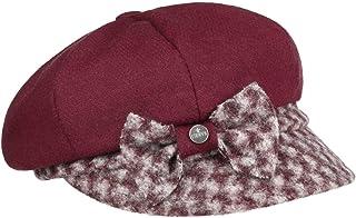Lierys Berretto Newsboy Jemina Wool Donna - Made in Italy Cappello Invernale Cappellino Lana con Visiera, Fodera Autunno/I...