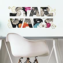 RoomMates Star Wars Floral Logo Peel And Stick Wall Decals With Foil
