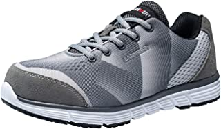 LARNMERN Steel Toe Shoes Men, Safety Shoes Comfortable and Lightweight Work Shoes Slip Resistant