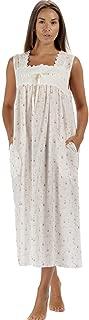 Nightgown 100% Cotton Womens Sleeveless Nightie + Pockets LAU/SL