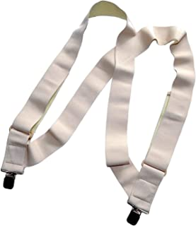 Holdup Hip-clip style 2 inch wide Undergarment side clip suspenders with patented No-slip Clips