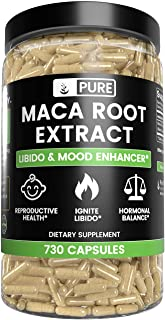 Sponsored Ad - Natural Maca Root, 730 Capsules, 6 Month Supply, 10:1 Ratio, No Stearates or Rice Filler, No GMO, Made in U...