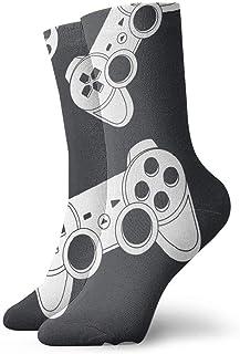Game Joystick Calcetines cortos transpirables Calcetines clásicos de algodón de 30 cm para hombres Mujeres Yoga Senderismo Ciclismo