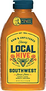 Local Hive from L.R Rice, Raw Honey, Pure and Unfiltered, Local Southwest United States Beekeepers, 40oz