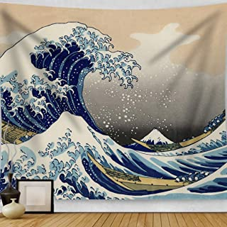 HAOCOO Kanagawa Tapestry, Ocean 3D Painting Wall Art Great Wave Wall Hanging Tapestry Home Decor for Bedroom Living Room Dorm Apartment 51