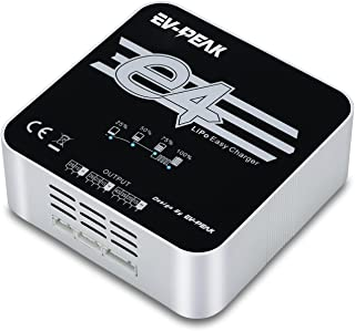 EV-PEAK E4 50Watts 4Amps 2S 3S 4S AC Lipo Battery Balance Charger for 7.4V 11.1V 14.8V Lipo Battery