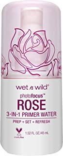 wet n wild Photo Focus Primer Water, Rose Addiction, 1.52 Ounces