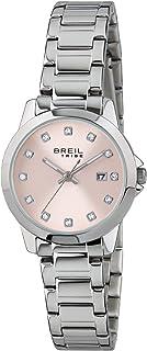 BREIL - Orologio da Donna Classic Elegance, Quadrante con Cristalli, Movimento Solo Tempo - 3H Quarzo, Bracciale in Acciai...