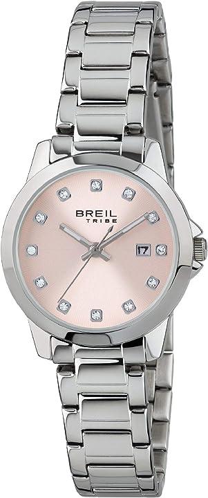 Orologio breil da donna classic elegance, quadrante con cristalli, EW0408