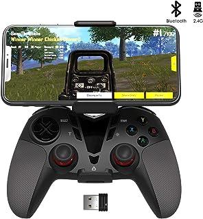 Darkwalker Mando Inalámbrico Bluetooth para Android OS/PS3/PC Windows, Mando De Videojuegos Compatible con Los Juegos Móviles Negro
