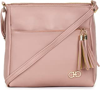 GLOSSY Women's Large Size Sling Bag - Pink