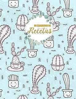 Mi cuaderno de recetas: Libro de recetas en blanco Para mi familia y amigos