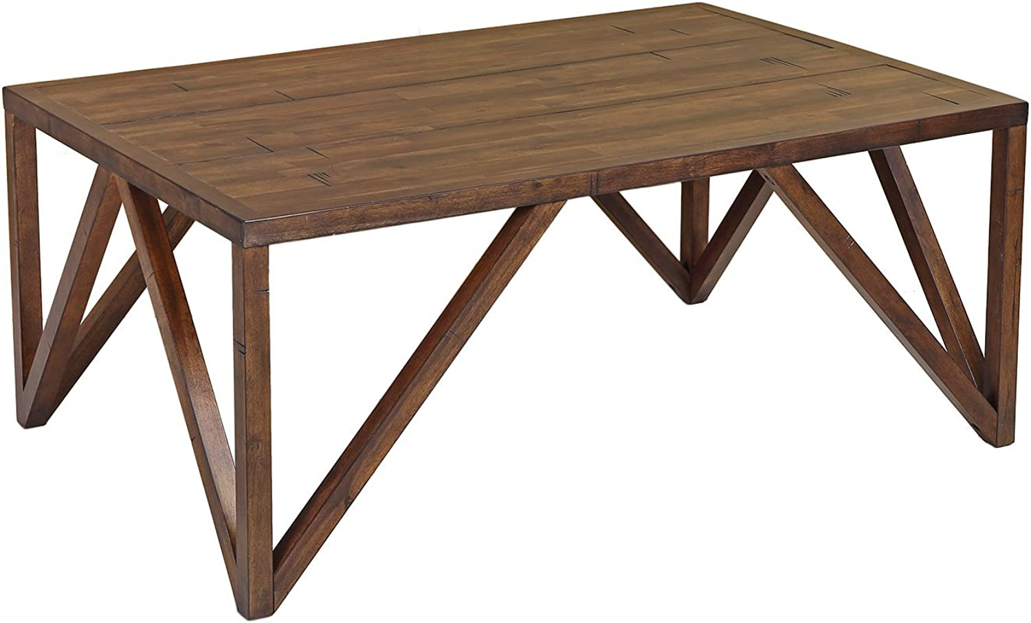 Craft and Main CFO-01281 Old World Chestnut Bali Coffee Table, 45  x 30
