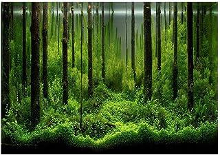 GLOGLOW Aquarium Background Poster, Thicken PVC Adhesive Fish Tank Background Fish Tank Wallpaper Fish Tank Terrarium Back...