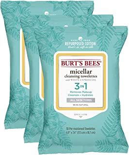 Burt's Bees Micellar Cleansing Towelettes, 30Count (Pack Of 3)- packaging May Vary