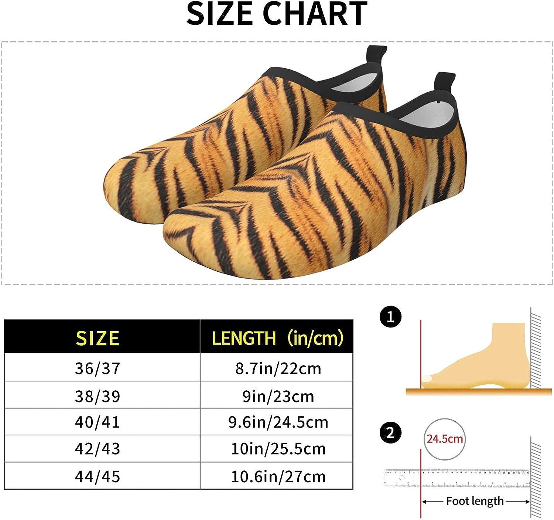 Tiger Leather Men's Women's Water Shoes Barefoot Quick Dry Slip-on Aqua Socks for Yoga Beach Sports Swim surf