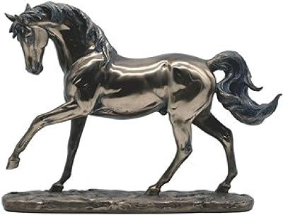 GSC 11756 12.75 Inch Horse Bronze Figurine, Brown