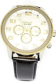 ساعة اوماكس للرجال - رياضية، متعددة الألوان، مينا ابيض - سوار من الجلد - مقاومة للماء - Beeb1221
