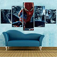 Painting art living room decoration on canvas HD print 5 pieces of film modular pictures comic hero spider poster