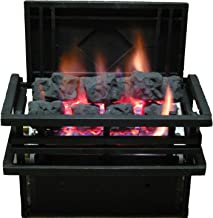 Rasmussen 15-inch Chillbuster Fireplace Set With Vent Free Natural Gas Coalfire Americana Style Basket Burner - Manual Safety Pilot