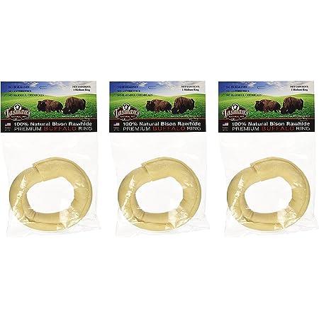 Pack of 3 3 Medium Rolls Tasmans Natural Pet All-Natural Buffalo Rawhide Rolls