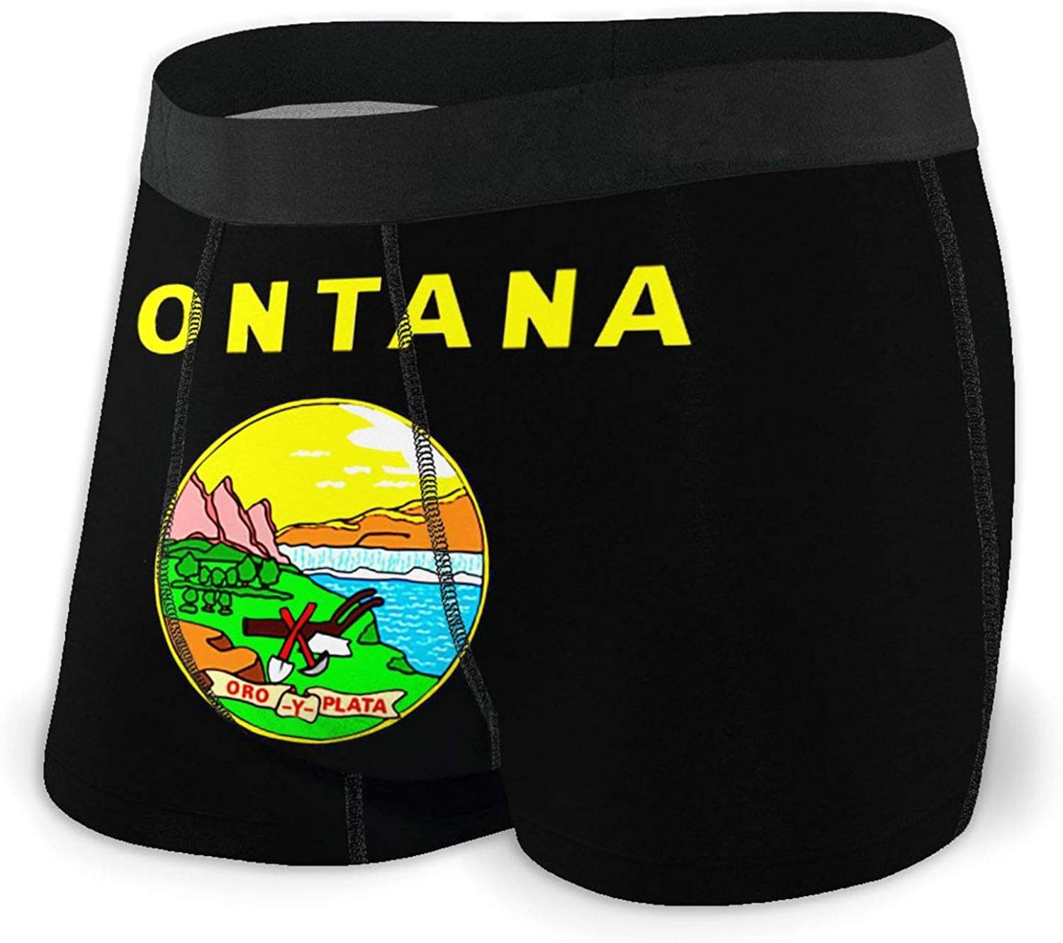 TZT Flag of latest Montana NEW before selling Men's Un Comfortable Breathable Briefs Boxer
