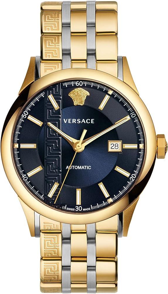 Versace,orologio automatico per uomo,in acciaio inossidabile V18050017