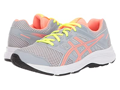 ASICS Kids Gel-Contend 5 (Big Kid) (Piedmont Grey/Sun Coral) Girls Shoes