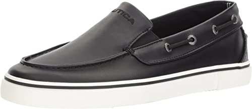 Nautica Hommes's Doubloon Boat chaussures, noir Smooth, 8.5 Medium US