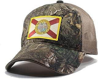 Men's Florida Flag Patch Camo Trucker Hat