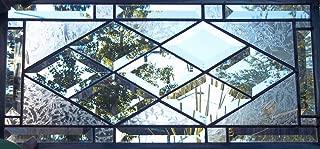Beveled Diamond Stained Glass Window Panel