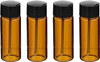 Scicalife 4St Små Glasflaskor Med Snuff Sked Glas Injektionsflaskor Oljor Reagents Candy Piller
