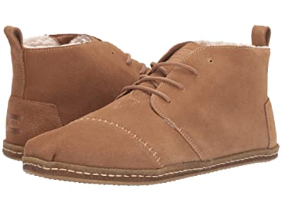 TOMS Bota (Toffee Suede with Faux Shearling) Men