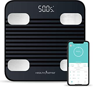 HealthSense Fitdays BS 171 Smart Bluetooth Body Weighing Scale | Digital Fitness Weight Machine with Mobile App, BMI and F...