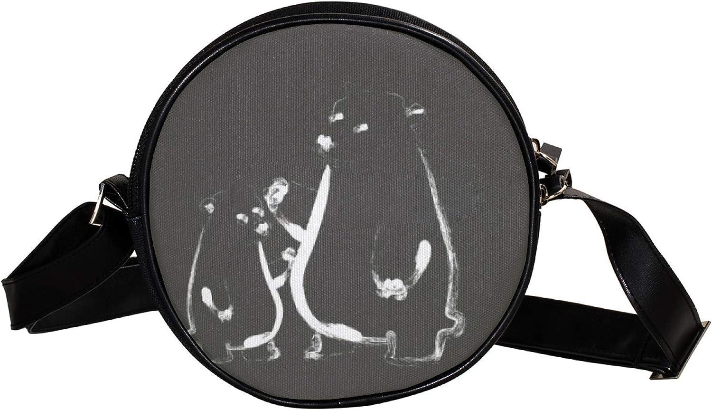 sketch Popular bears Women's Round Max 48% OFF Cross-Body circle Zipper Shoulder Bag