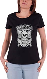 Babymetal T Shirt Crossbone Band Logo 新しい 公式 レディーズ Skinny Fit