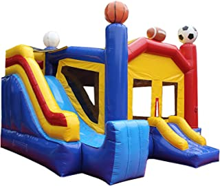 Bounce Zone Inflatable Commercial Grade Bounce House Sports Castle 100% PVC with Blowerr
