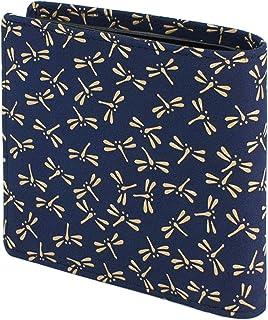 INDEN-YA 印傳屋 印伝 財布 二つ折り財布 メンズ 男性用 紺×白 とんぼ 2009-14-008