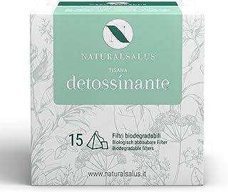 NATURALSALUS - Tisana Detossinante 100% Naturale, Utile per Depurare e Drenare l'Organismo - 15 Filtri Biodegradabili